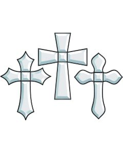 Three Crosses Bevel Cluster