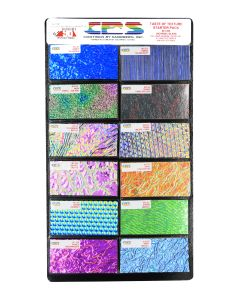 "Taste of Texture Dichroic Sample Pack, 2"" x 4"" pieces"