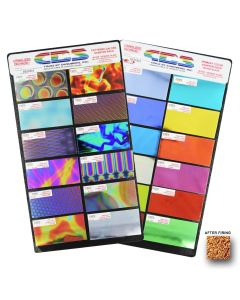 "Crinklized Dichroic Sample Pack, 2"" x 4"" pieces"