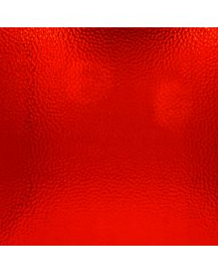 Wissmach Red Cathedral Hammered Glass, backlit