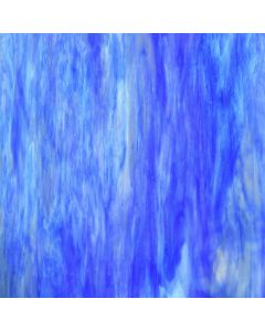 Wissmach Blue, White, & Clear Wispy Iridized Glass