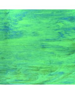 Wissmach Mystic Medium Green, Dark Blue & White Glass