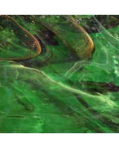 Wissmach Mystic Medium Green, Brown & White Glass