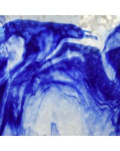 Youghiogheny Cobalt Blue, White Mottled Glass