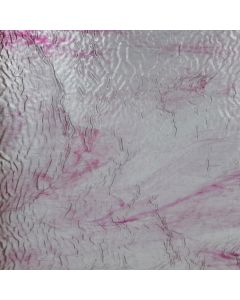 Youghiogheny Ice White, Pink Ripple Stipple Glass