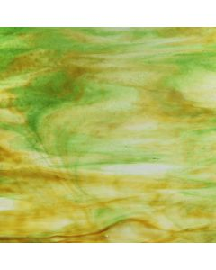 Youghiogheny Ice White, Silver Yellow, Green Stipple Glass