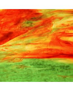 Youghiogheny Yellow, Red, Green Stipple Glass