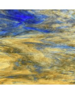 Youghiogheny Ice Beige, Dense Beige, Cobalt Blue Stipple Glass