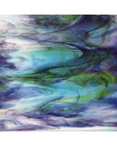 Youghiogheny Blue, Ice White, Purple, Green Stipple Glass